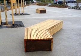Mobilier urbain bois - Saint-Herblain (44)