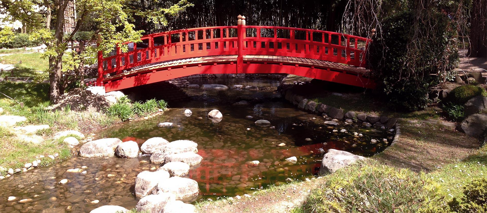 Pont japonais pour parc public