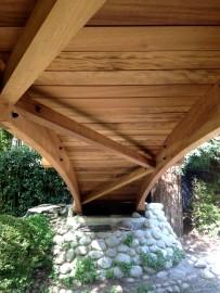 Pont japonais en bois sur mesure - Boulogne (92)